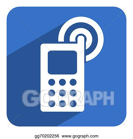 Stock Illustration - Mobile phone icon  Clip Art gg70202256