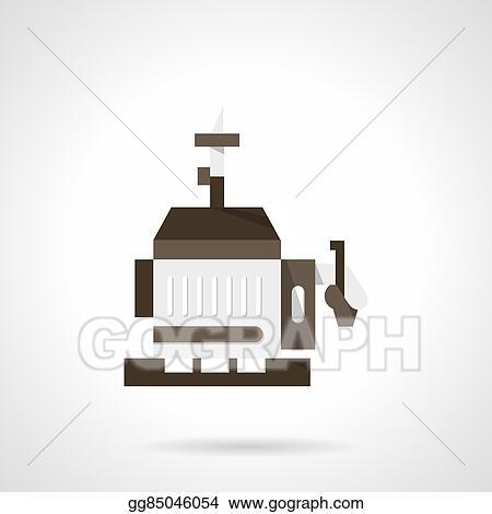 diesel generator icon. Mobile Power Generator Flat Design Vector Icon Diesel S