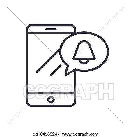 Vector Illustration - Mobile ringtone black icon concept