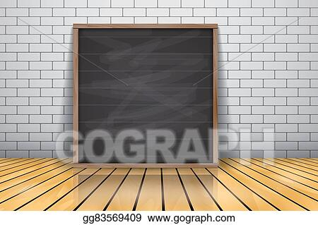 Stock Illustration Mock Up For Presentation Framed Signboard