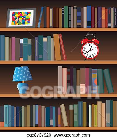 vector art modern bookshelf clipart drawing gg58737920 gograph rh gograph com empty bookshelf clipart empty bookshelf clipart