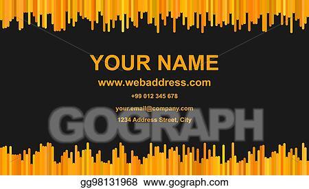 Eps Illustration Modern Business Card Template Vector Id Card