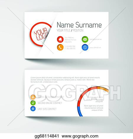 Business card clip art royalty free gograph modern business card template with flat user interface colourmoves