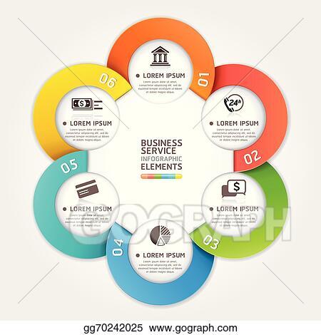 Modern Business Service Circle