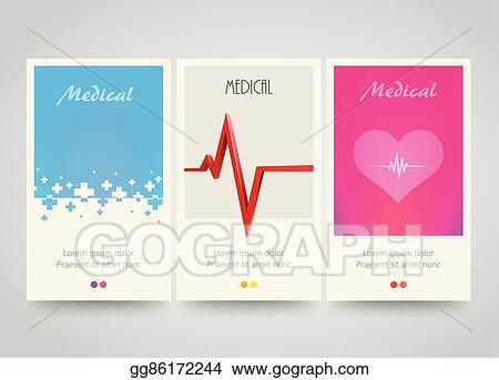 eps illustration modern colorful vertical medical banners