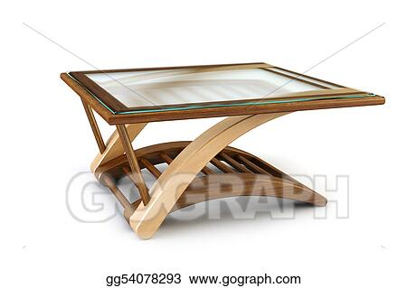 Stock Illustration Modern Dining Glass Table Clipart Gg54078293