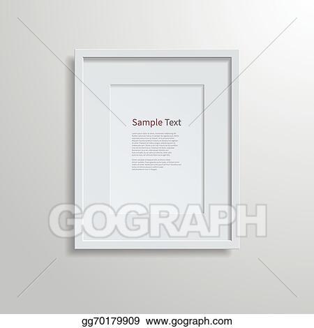 Vector Illustration Modern Frame On A White Wall Stock Clip Art