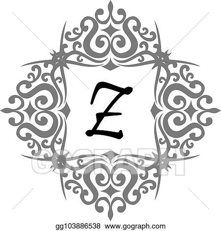 Vector Stock Modern Letter Z Clipart Illustration Gg103886538