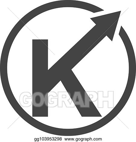 Vector Stock Modern Logo Solution Letter K Clipart Illustration