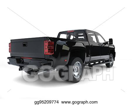 Clipart Modern Pickup Truck Back View Stock