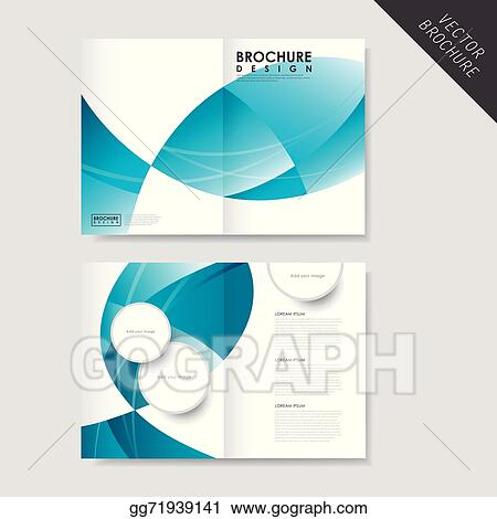 Vector Illustration Modern Streamlined Half Fold Brochure Template
