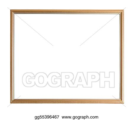 Stock Photography Modern Thin Gold Picture Frame Stock Image