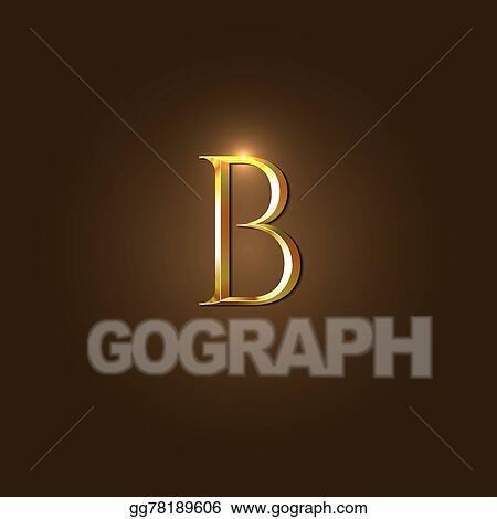 modern vector illustration of gold letter b template for company logo your design element or icon
