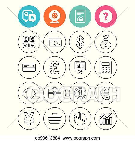 Vector Illustration Money And Business Icon Cash And Cashless