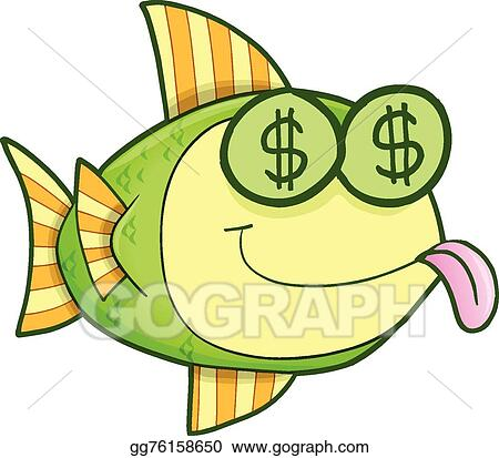 eps vector money hungry fish vector art stock clipart rh gograph com i'm hungry clipart hungry clipart images