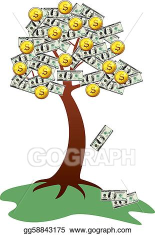 Vector Stock Money Tree With Fruits And Leaves Clipart