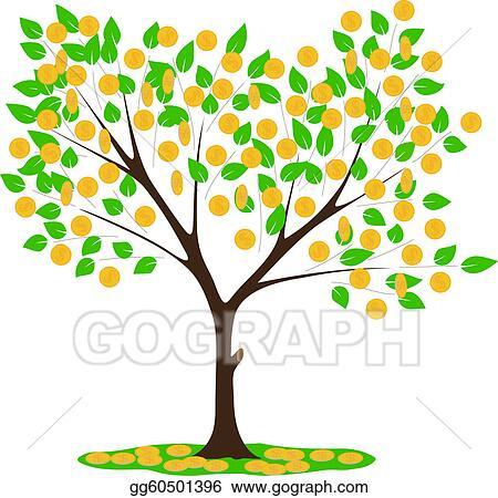 vector art money tree clipart drawing gg60501396 gograph rh gograph com