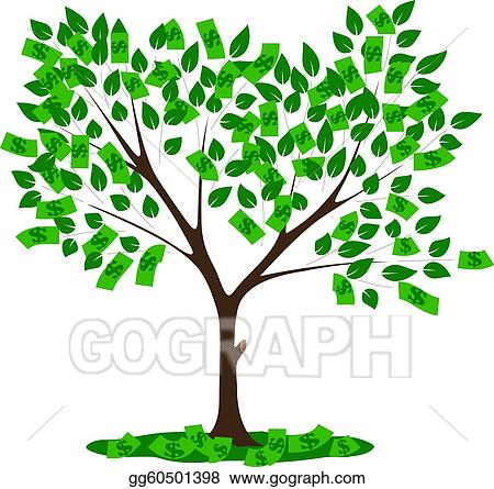 vector art money tree clipart drawing gg60501398 gograph rh gograph com Money Clip Art money tree clipart png