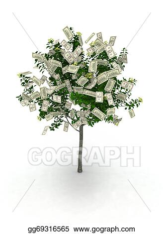 Drawing Money Tree Clipart Drawing Gg69316565 Gograph