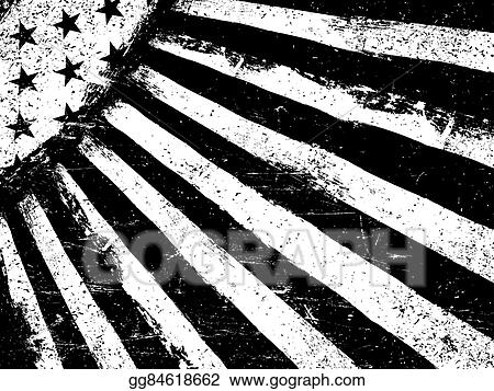 37f7e4222592 Monochrome Negative Photocopy American Flag Background. Grunge Aged  VectorTemplate. Horizontal orientation.