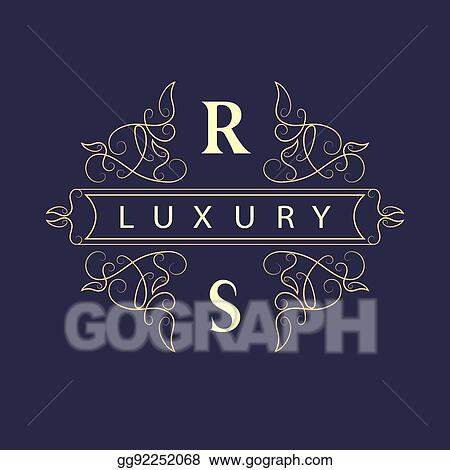 Eps Illustration Monogram Design Elements Graceful Template Elegant Line Art Logo Business Sign Identity For Restaurant Royalty Boutique Cafe Hotel Heraldic Jewelry Fashion Wine Vector Illustration Vector Clipart Gg92252068 Gograph