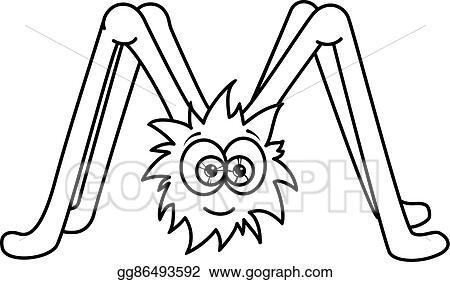EPS Illustration - Monster alphabet coloring pages: letter m. Vector ...