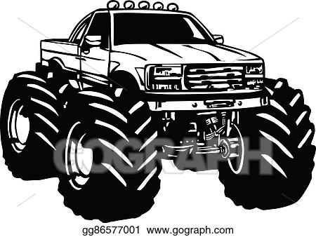 Vector Clipart Monster truck