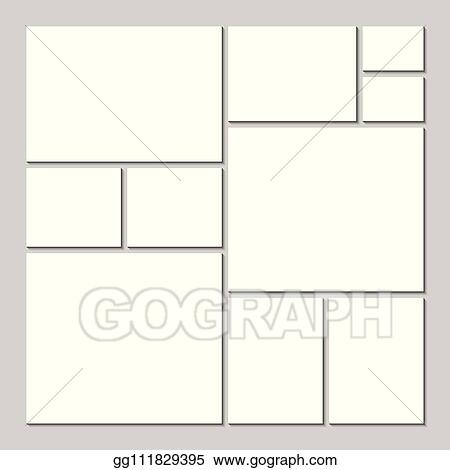 Mood Board Template | Vector Illustration Mood Board Template For Any Occasion