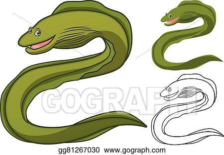 vector stock moray eel cartoon clipart illustration gg81267030 rh gograph com eel fish clipart eel clipart png
