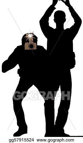 clip art silhouette of paparazzi photographers stock illustration gg57915524