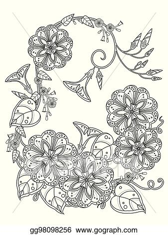 morning glory coloring page