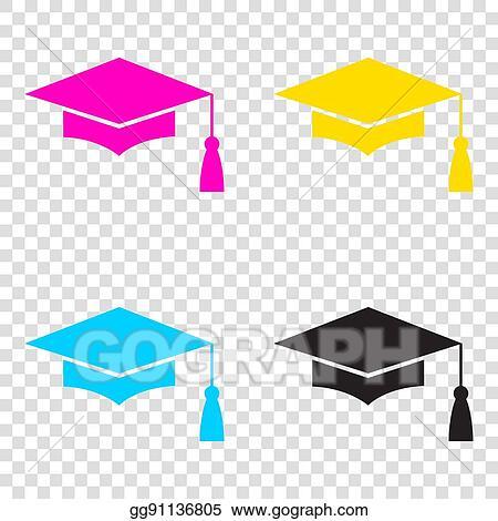 Vector Illustration - Mortar board or graduation cap 164fd100622a