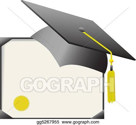 mortarboard graduation cap diploma certificate