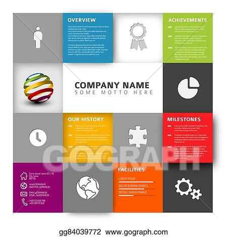 Eps vector mosaic company profile template stock clipart mosaic company profile template wajeb Image collections