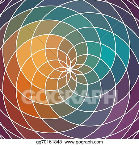 Vector Art Mosaic Spectrum Color Wheel Made Of Geometric Shapes