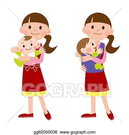 stock illustration mother and baby babysitter clip art rh gograph com babysitter clipart babysitter clip art