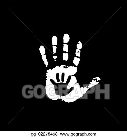 Mother Or Father And Child Handprint