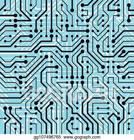 Awe Inspiring Circuit Board Vector Tile Repeating Pattern Electrical Stock Vector Wiring Cloud Inamadienstapotheekhoekschewaardnl