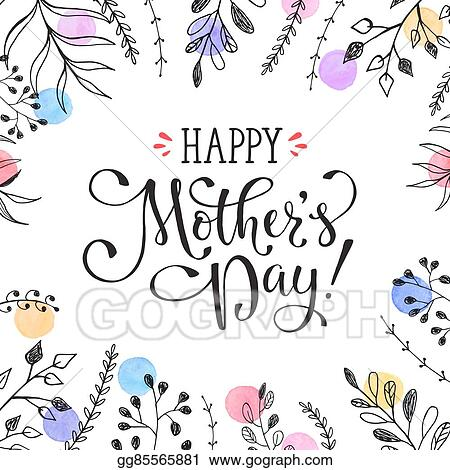 eps vector mother s day card stock clipart illustration