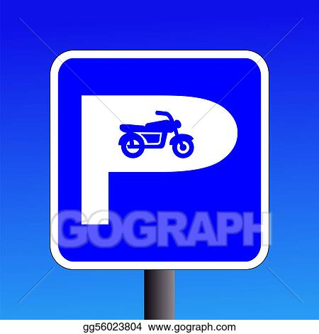 motorcycle parking clipart  Stock Illustration - Motorbike parking sign. Clipart Drawing ...