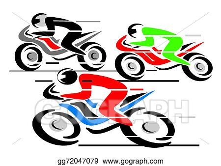 Vector Stock Motorcycle Race Clipart Illustration Gg72047079