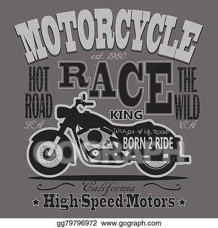 Vector Art Motorcycle Racing Typography Graphics