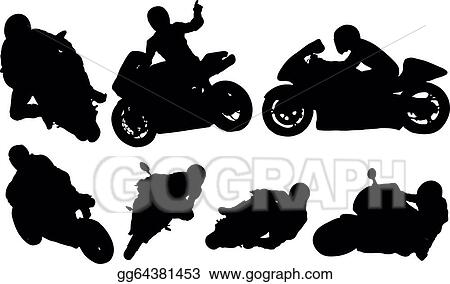 Eps Vector Motorcycle Racing Stock Clipart Illustration