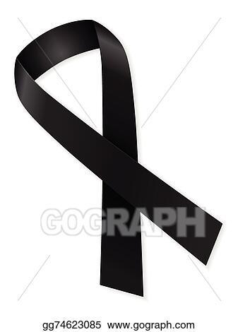 Clip Art Vector Mourning Ribbon Stock Eps Gg74623085 Gograph
