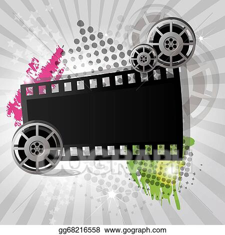 Movie Background Banner Vector