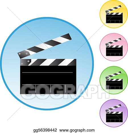 vector art movie clapboard clipart drawing gg56398442 gograph