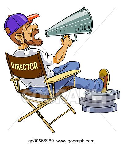 stock illustration movie director clipart drawing gg80566989 rh gograph com film director clipart film director clipart