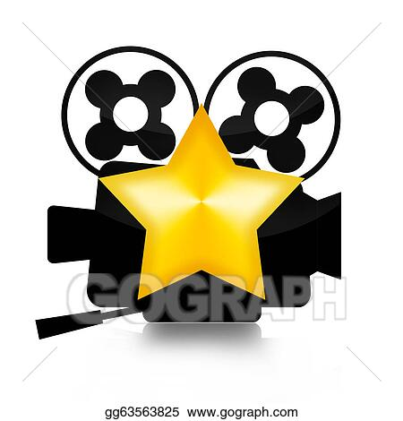 stock illustration movie star clipart drawing gg63563825 gograph rh gograph com Hollywood Clip Art Trophy Clip Art