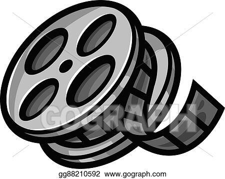 Vector Art Movie Theater Cinema Film Reel Unsp Clipart Drawing Gg88210592 Gograph