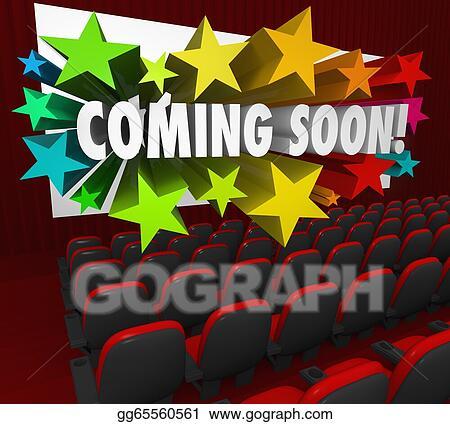 Movie coming soon. Stock illustration theatre screen
